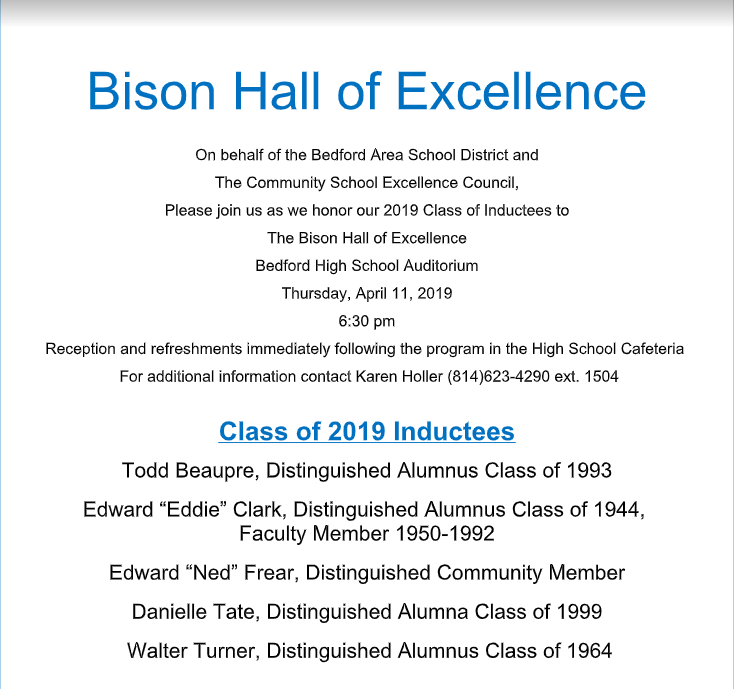 HALL OF EXCELLENCE